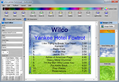 AudioLabel CD Label Software Support