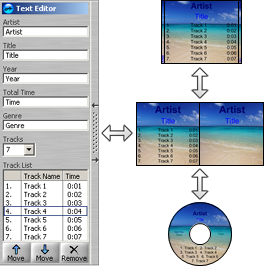 Make cd labels using the AudioLabel Text Editor